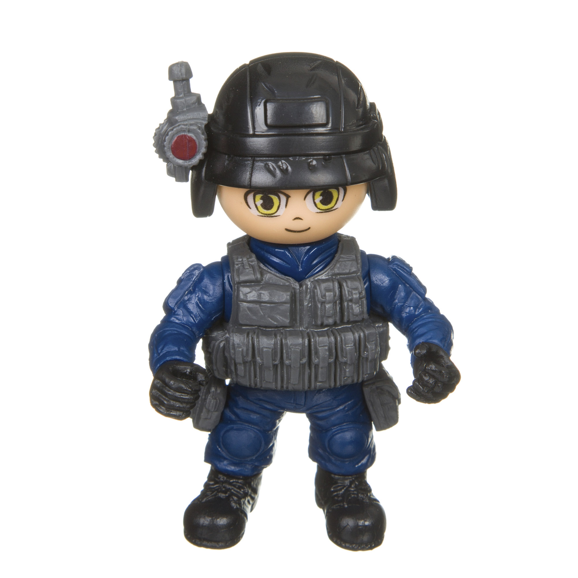 Разборный солдатик с оружием Боец Полиция Bondibon