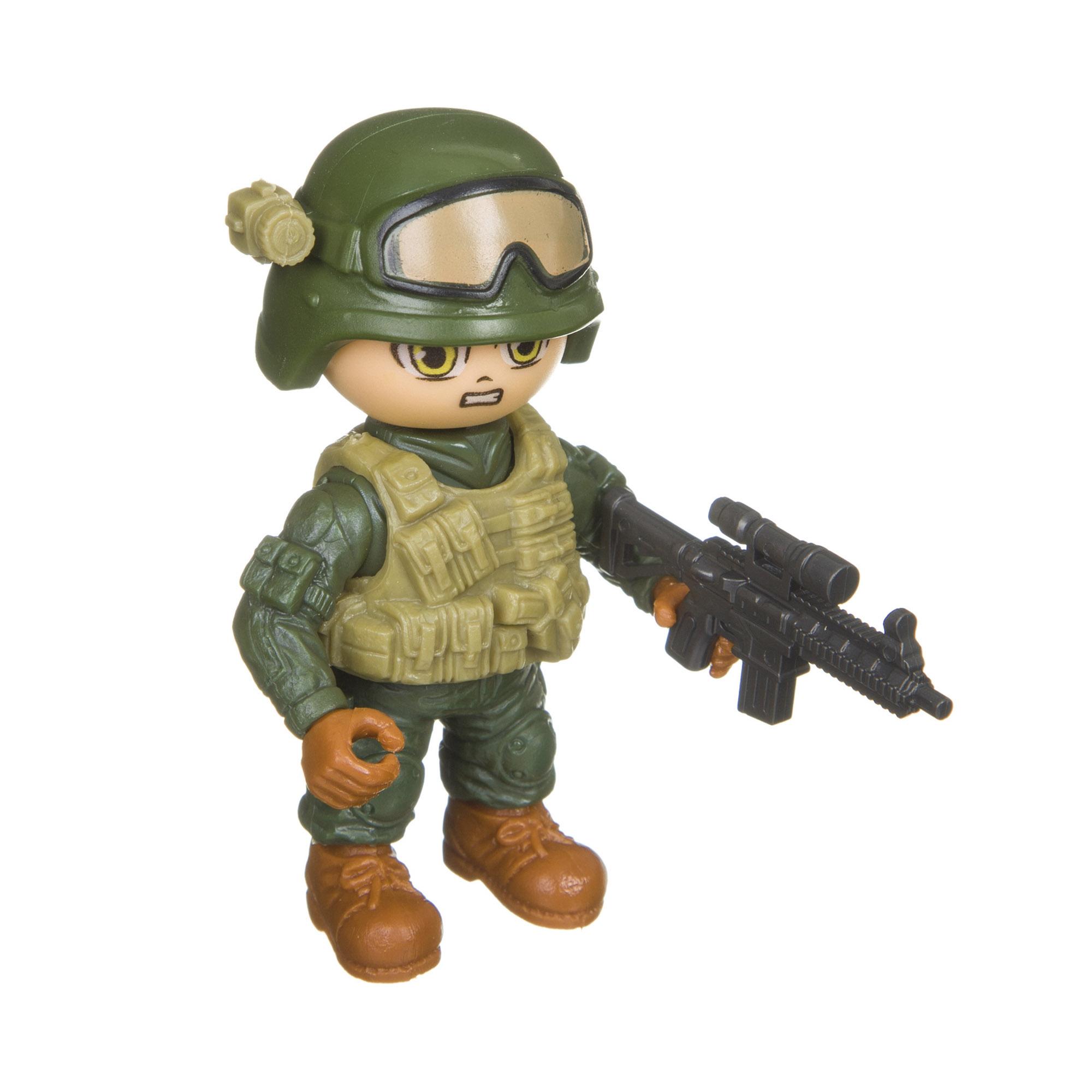 Разборный солдатик с оружием Боец Bondibon