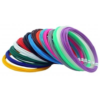 Купить Набор пластика TMPROF3D PLA для 3D ручек, 15 цветов по 10 м,
