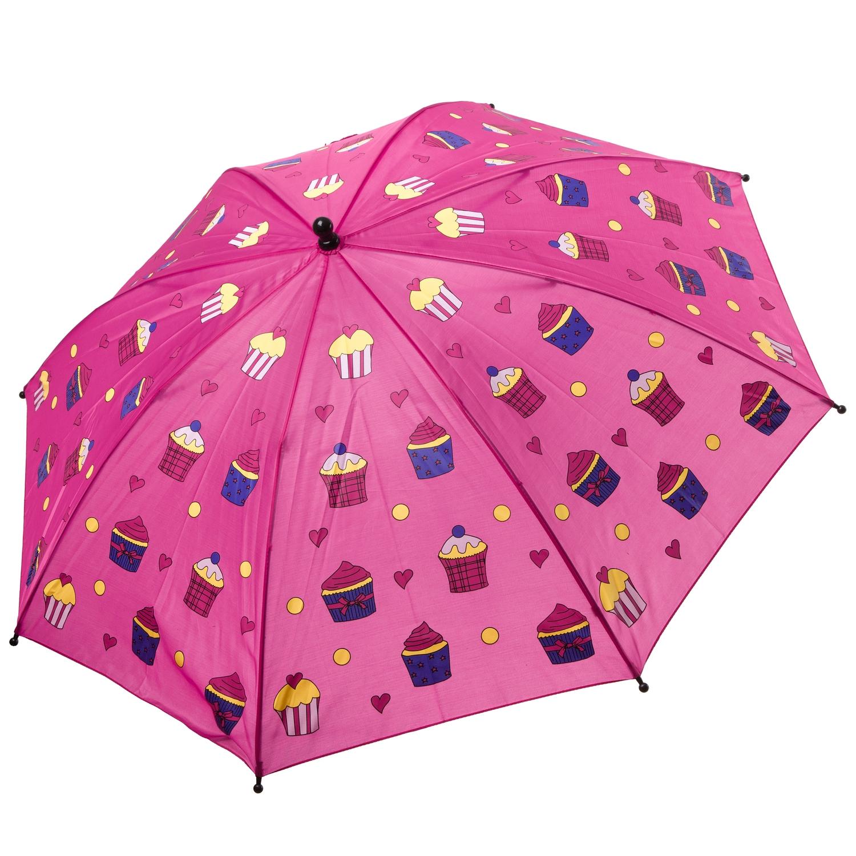 Автоматический детский зонт Bondibon Кексики розовый, 19