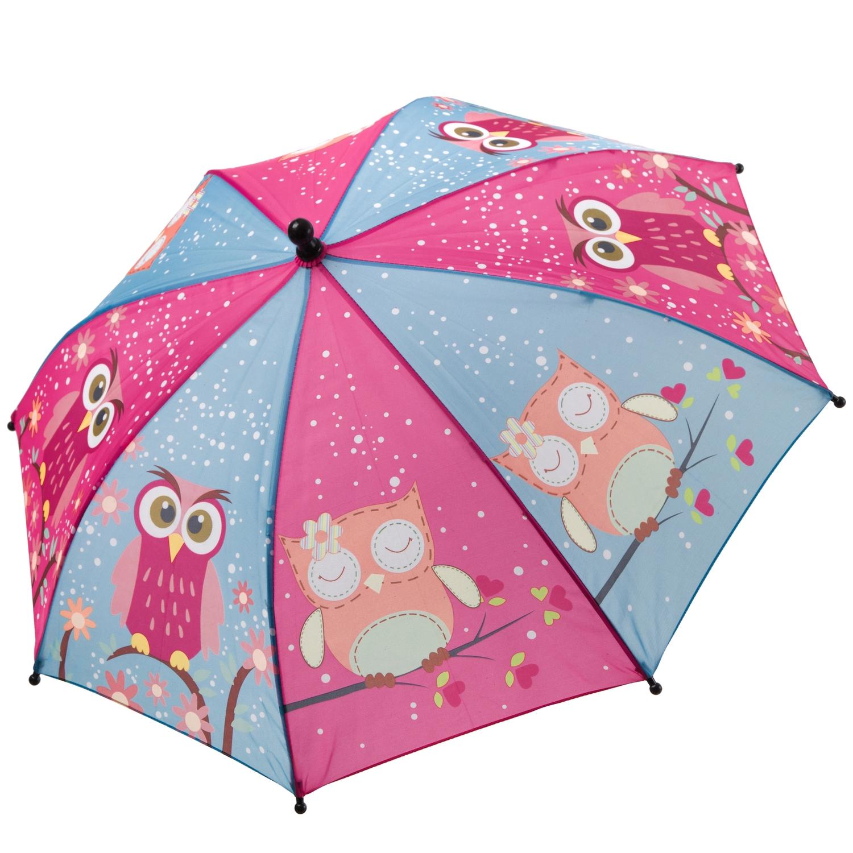 Детский зонт Bondibon Совята, фиолетово голубой,