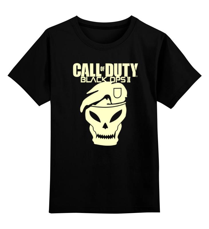 Детская футболка Printio Call of duty black ops цв.черный р.140 0000000756299 по цене 876