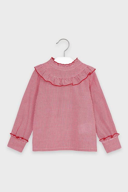 Блузка с пуговицами на спине Mayoral 4152 цв.красный р.122 4152/_красный