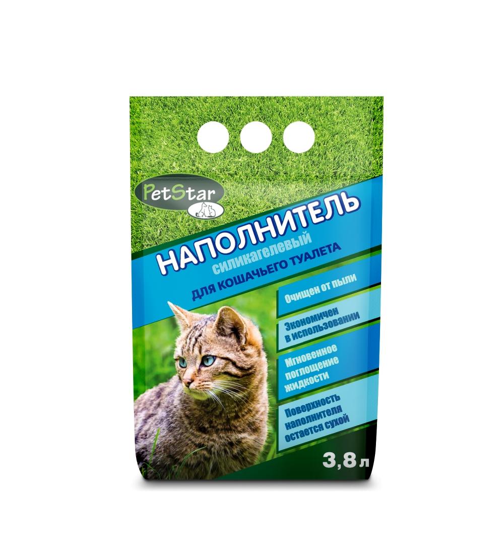Впитывающий наполнитель для кошек Pet Star силикагелевый,