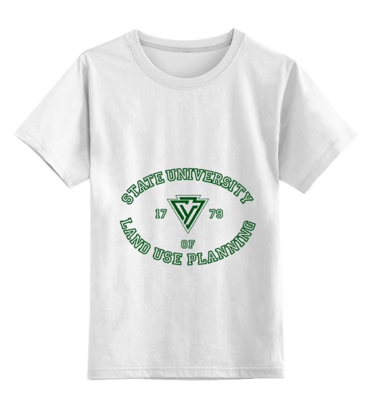 Купить 0000000752737, Детская футболка Printio Гуз цв.белый р.140,