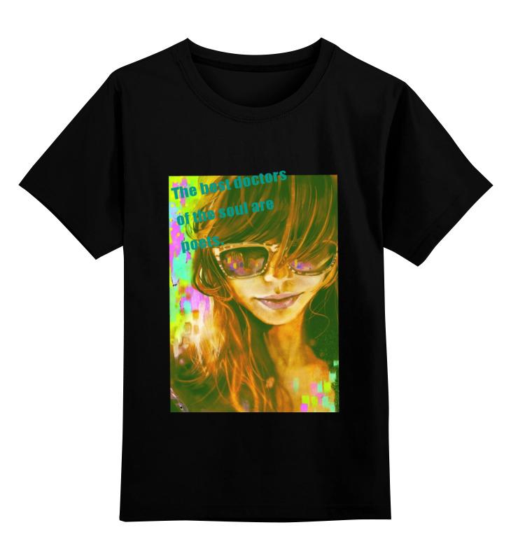 Купить 0000000752588, Детская футболка Printio Ilness цв.черный р.140,