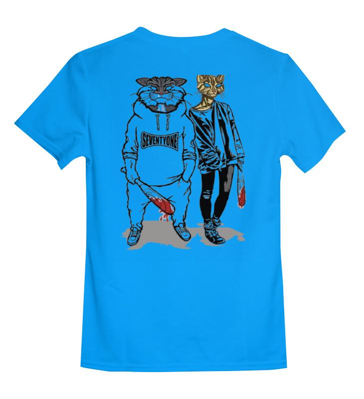 Купить 0000000751659, Детская футболка Printio Art цв.голубой р.140,