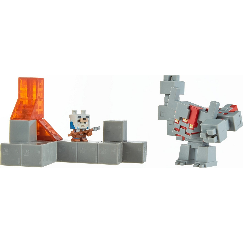 Купить Игровой набор Mattel Minecraft, Схватка в подземелье GNF12,