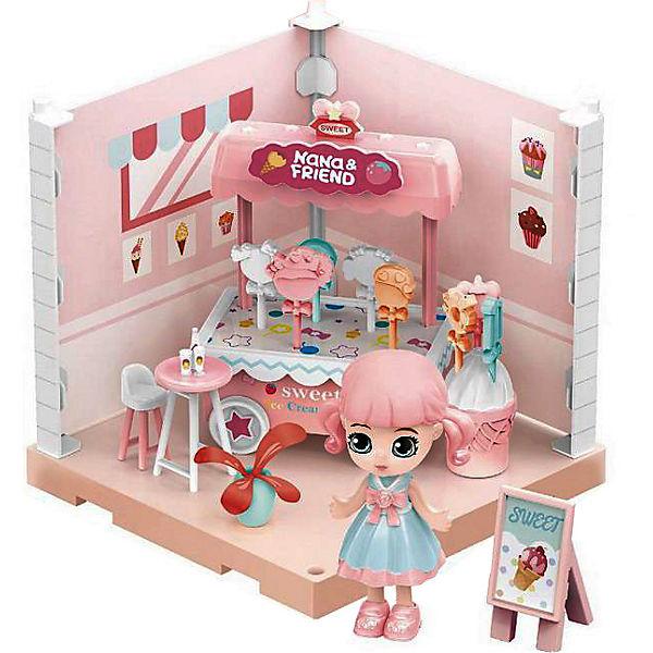 Купить (Собери сам), 1 секция, Мини-кукла в кондитерской, с аксессуарами, Игровой набор Junfa Собери сам 1 секция, Мини-кукла в кондитерской с аксессуарами WJ-14336, Junfa toys,