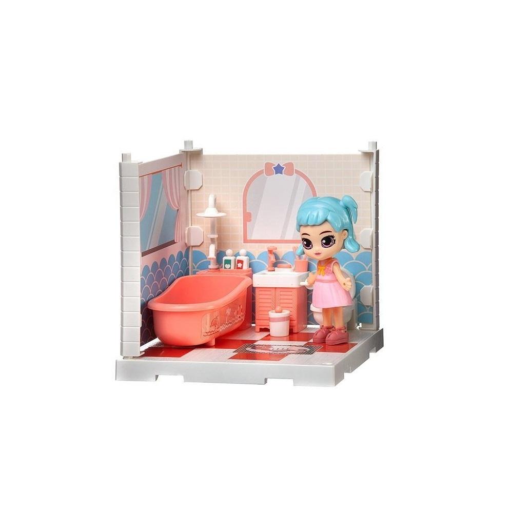 Купить (Собери сам), 1 секция, Мини-кукла в ванной комнате, с аксессуарами, Игровой набор Junfa Мини-кукла в ванной комнате, с аксессуарами WJ-14335, Junfa toys,