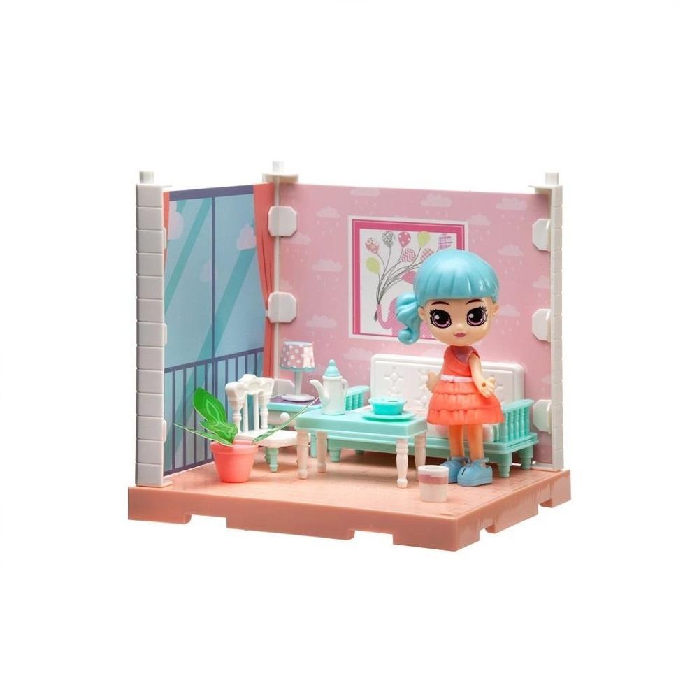 Купить Игровой набор Junfa (Собери сам), 1 секция, Мини-кукла в гостиной, с аксессуарами WJ-14329, Junfa toys,