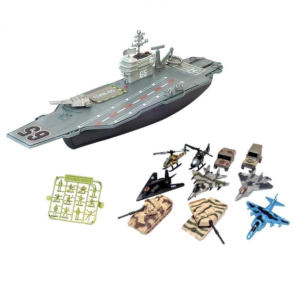Авианосец , Собери сам, (корабль, самолеты, военная техника, аксессуары), Игровой набор Junfa Авианосец, P849-A, Junfa toys,  - купить со скидкой