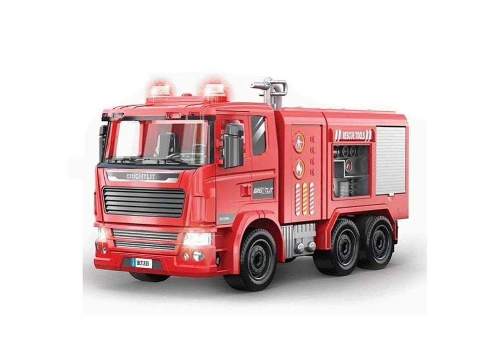 Купить Собери сам, Пожарная машина , 99 деталей, звук, свет, Игровой набор Junfa Собери сам, Пожарная машина, свет 1925, Junfa toys,