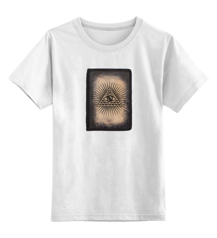 Детская футболка Printio Всевидящее око цв.белый р.152 0000000738987 по цене 790