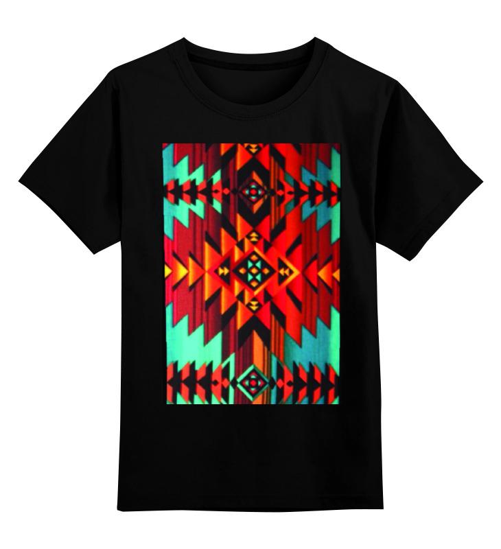Купить 0000000738367, Детская футболка Printio Индеец цв.черный р.152,
