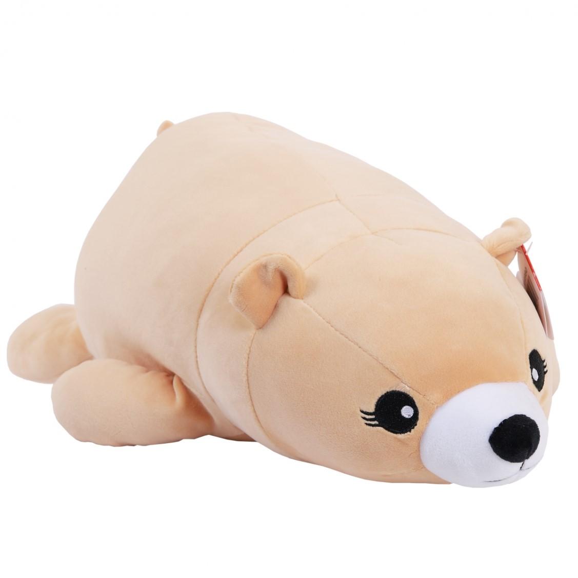 Купить Мягкая игрушка ABtoys Super soft, Медведь бежевый, 45 см,