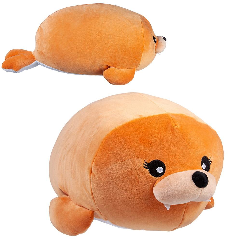 Мягкая игрушка ABtoys Super soft, Морж коричневый, 45 см,  - купить со скидкой