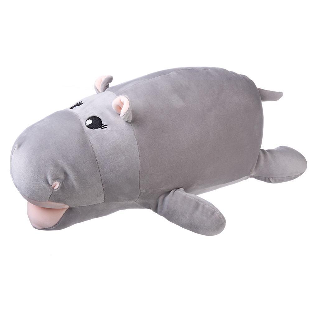 Купить Мягкая игрушка ABtoys Super soft, Бегемот серый, 45 см,