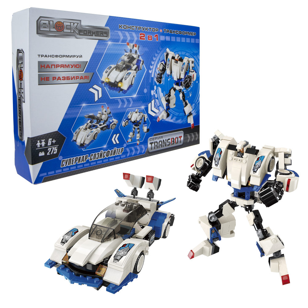 Купить Blockformers, Transbot, Суперкар-Спэйсфайтер , 275 деталей, коробка, Конструктор 1Toy Blockformers, Суперкар-Спэйсфайтер,