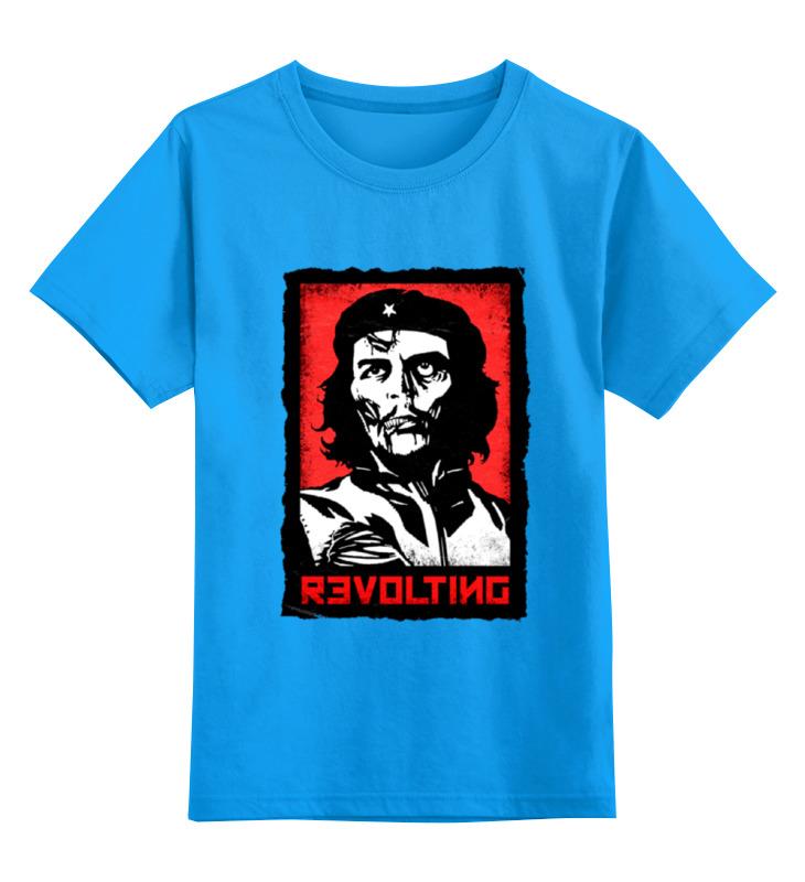 Купить 0000000732679, Детская футболка Printio Chegevara zombie цв.голубой р.152,