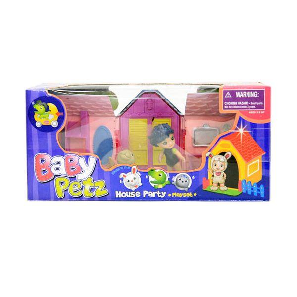 Купить Игровой набор Гратвест животные с куклой, House Party, 29*13*10 см Д40485, Gratwest,