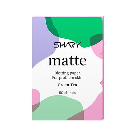 Матирующие салфетки Shary для лица «Зеленый чай»,