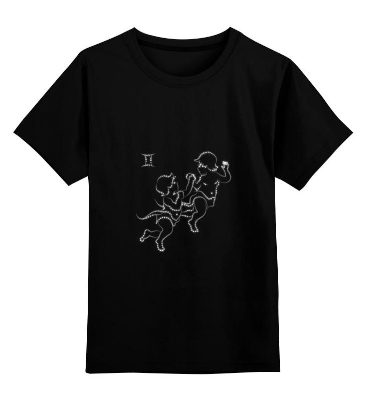 Купить 0000000739818, Детская футболка Printio Близнецы цв.черный р.164,