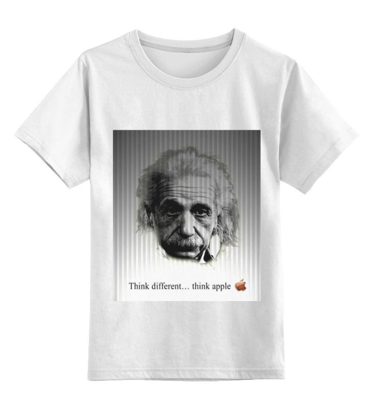 Купить 0000000739584, Детская футболка Printio Эйнштейн цв.белый р.164,