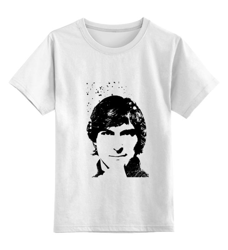 Детская футболка Printio Стив джобс цв.белый р.164 0000000739097 по цене 790