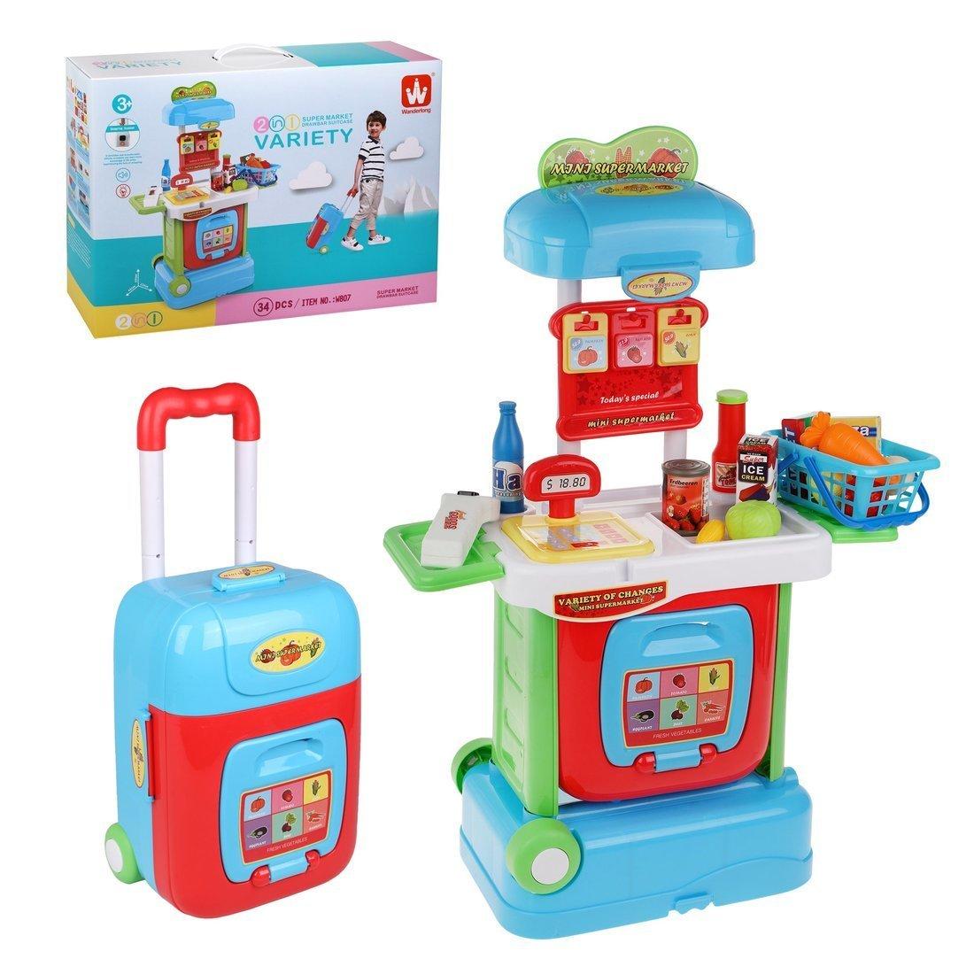 Купить Игровой набор Наша Игрушка Магазин Продукты, 34 предмета, свет, звук W807, Наша игрушка,