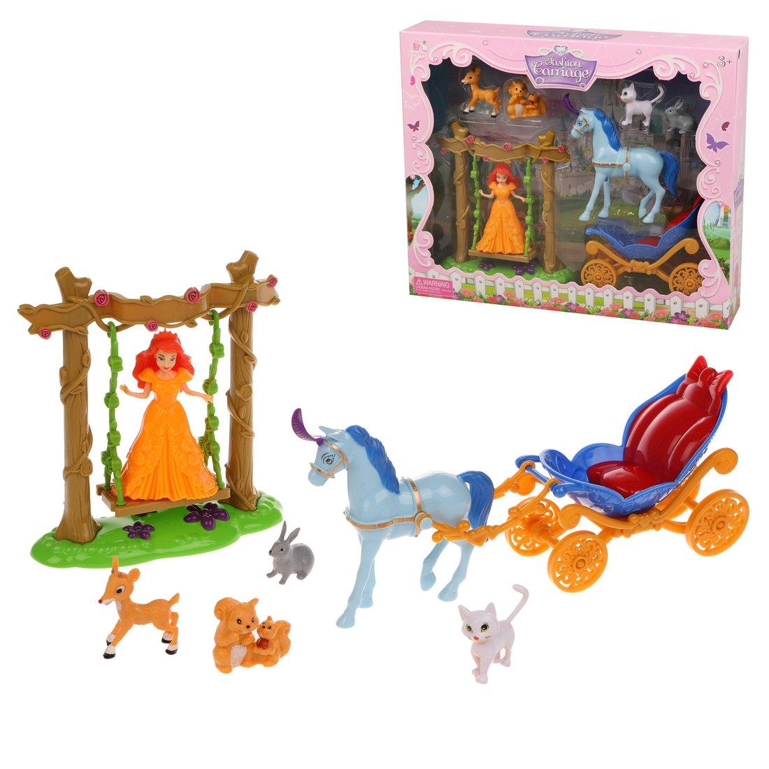 Купить Игровой набор Наша Игрушка Карета с фигурками, 7 предметов SS047A, Наша игрушка,