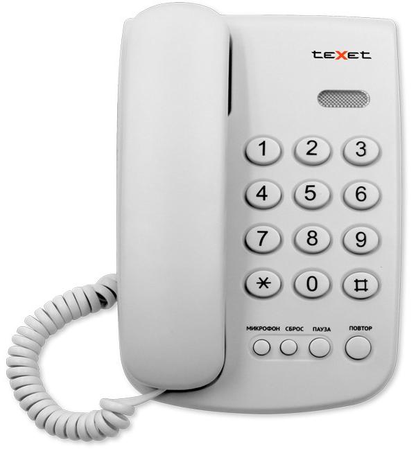Домашний телефон teXet TX 241 Light Gray