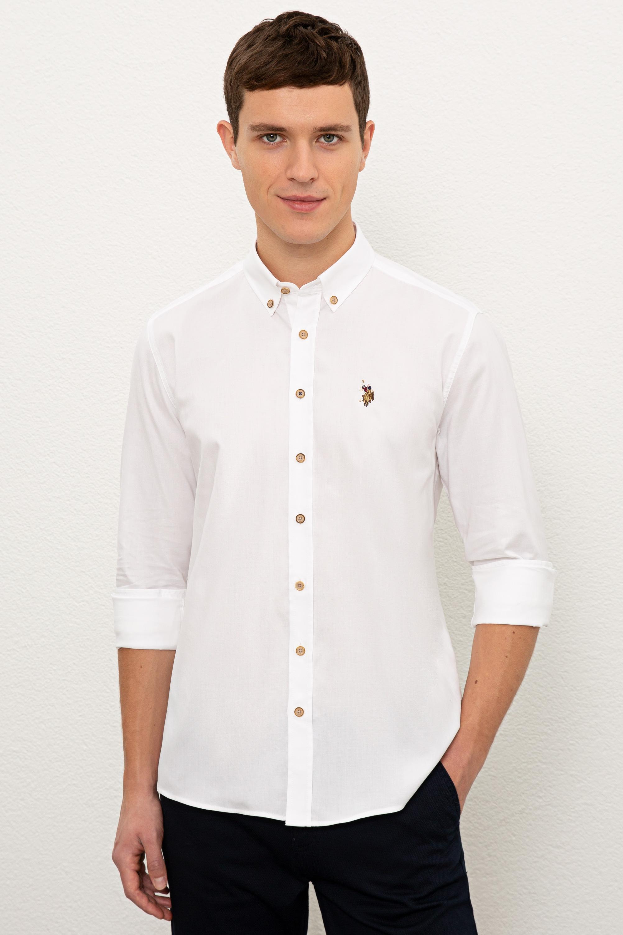 Рубашка мужская U.S. POLO Assn. G081SZ0040CEDCOLOR020K белая 2XL