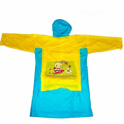 Виниловый плащ дождевик Markethot желто синий,