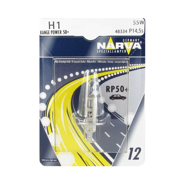 Лампа 12v H1 55w 50% Narva