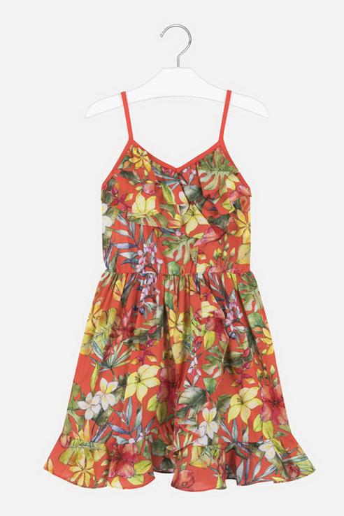 Купить 6988._оранжевый, Платье Mayoral 6988 цв.оранжевый р.140,