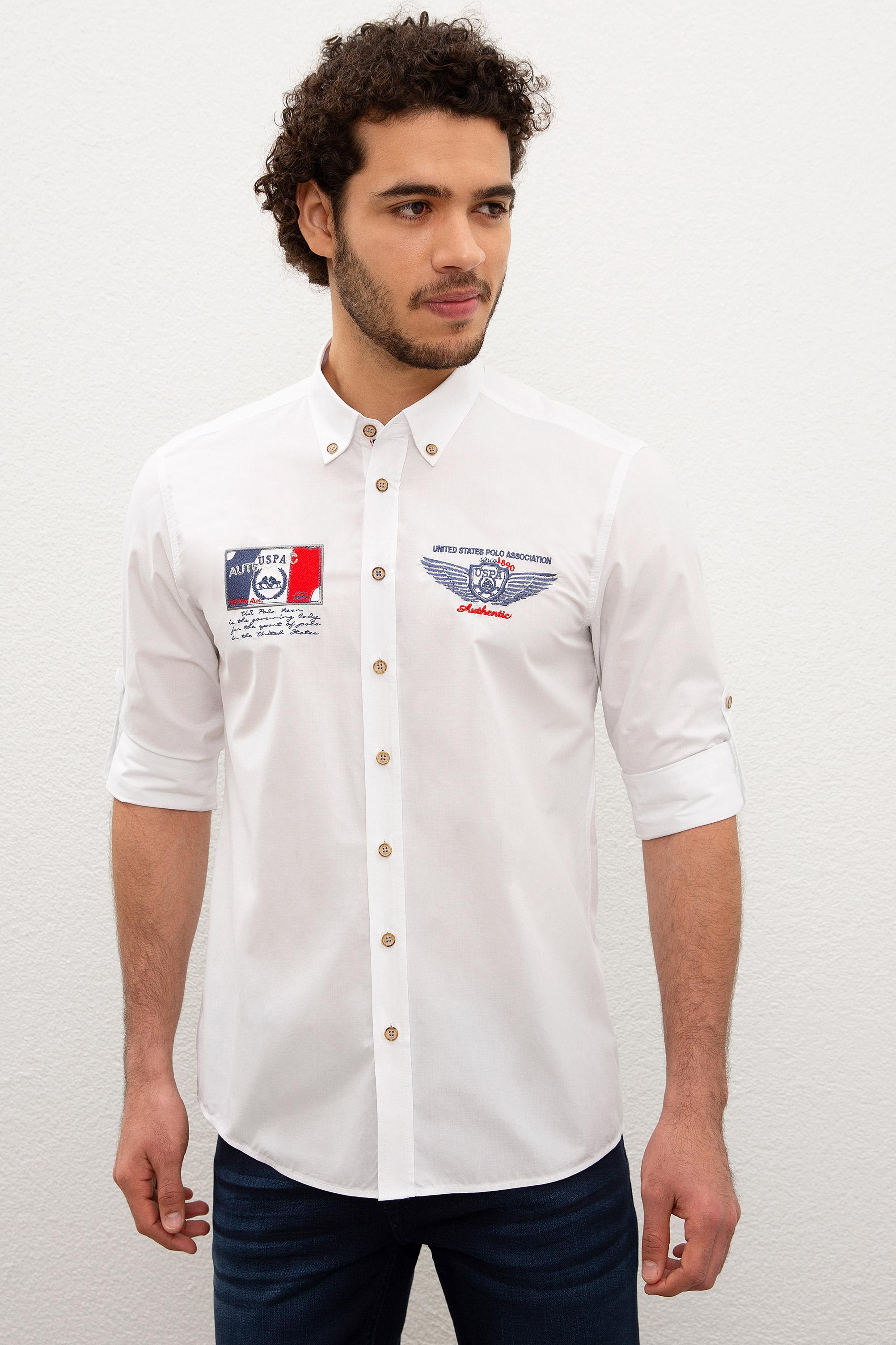 Рубашка мужская U.S. POLO Assn. G081SZ0040FONSA белая XL