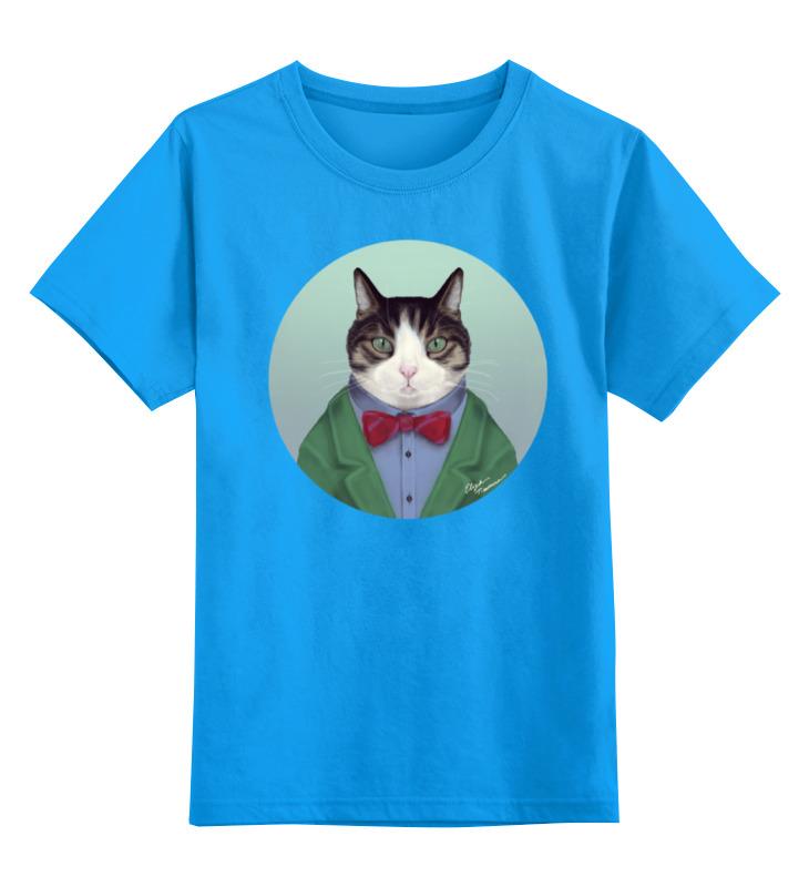 Детская футболка Printio Кот в костюме цв.голубой р.164 0000000737506 по цене 990