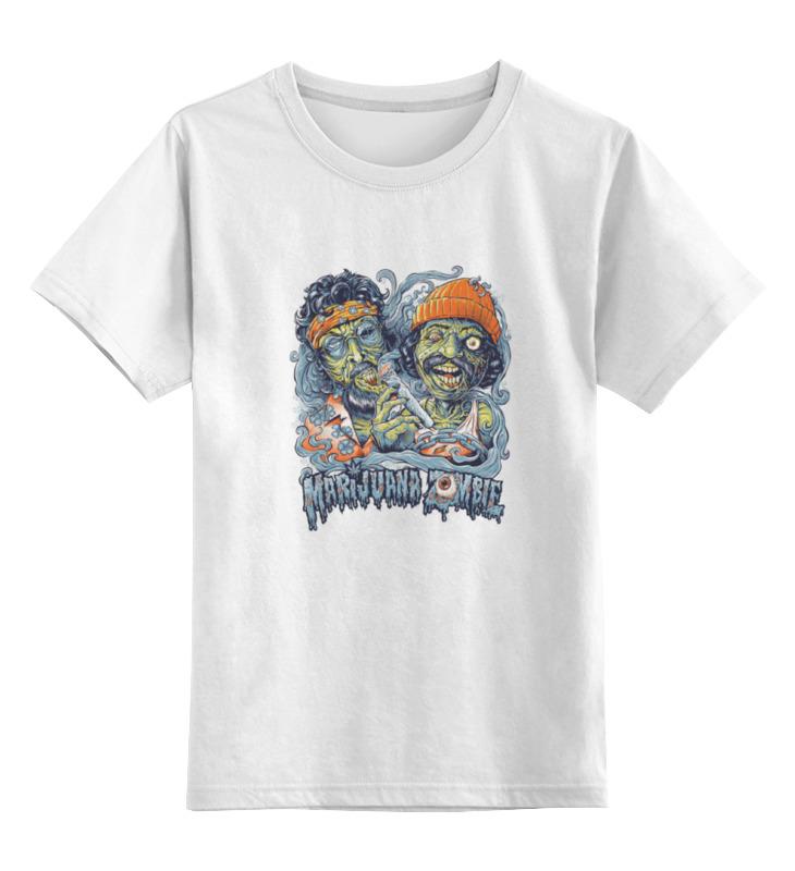 Купить 0000000736282, Детская футболка Printio Зомби хипстеры цв.белый р.164,