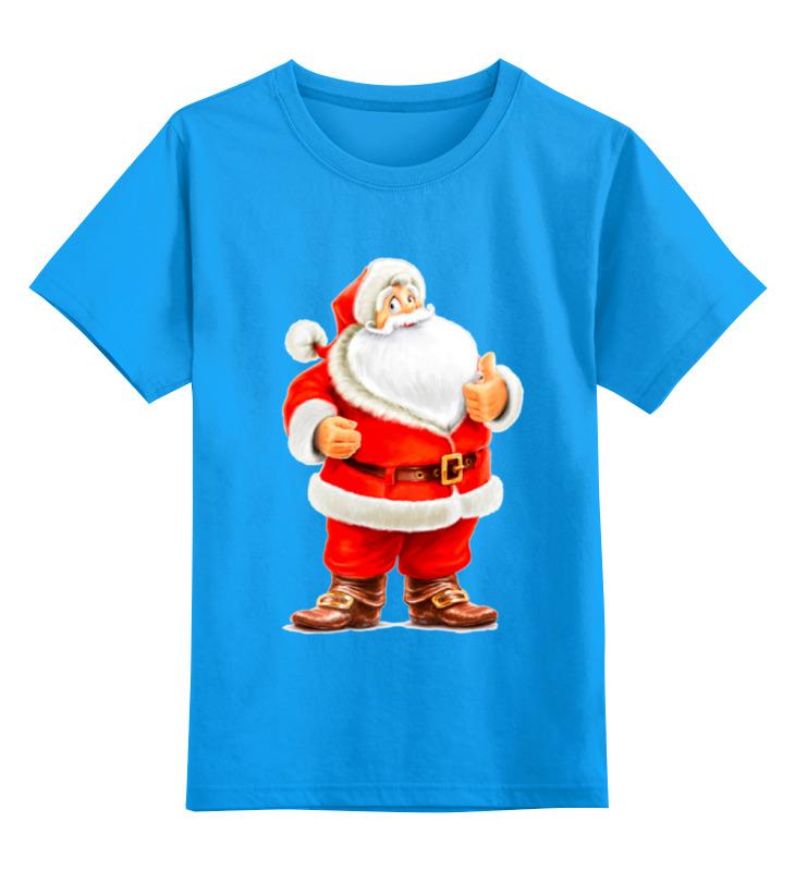 Купить 0000000732735, Детская футболка Printio Happy new year цв.голубой р.164,