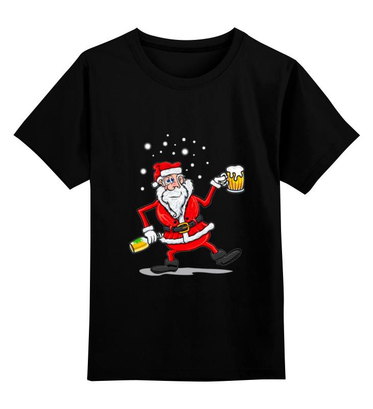 Купить 0000000732725, Детская футболка Printio Happy new year цв.черный р.164,