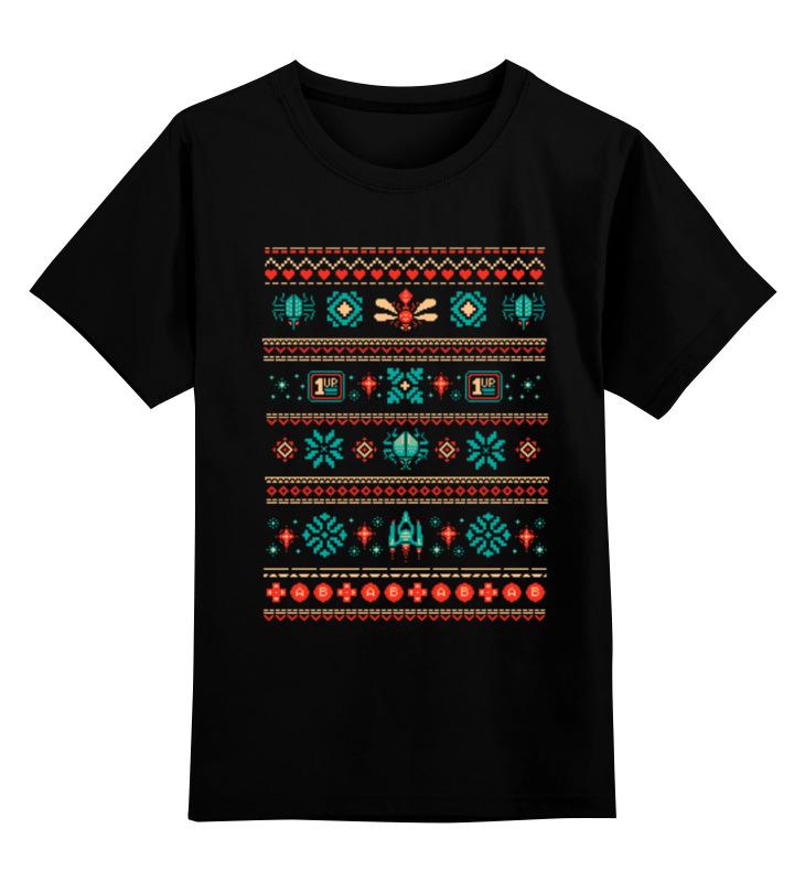 Детская футболка Printio Пиксельный узор цв.черный р.164 0000000731922 по цене 990