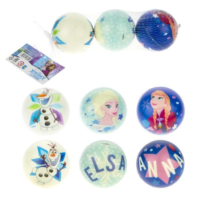 Купить Мяч 1Toy Disney, Холодное Сердце, PU, с принтом, 7, 5 см, 3 шт, в сетке,