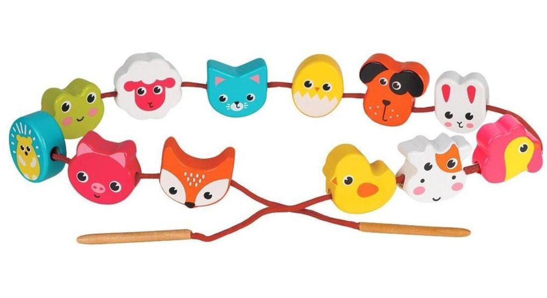 Купить Животные , 12 деталей, 1 шт от 3 до 4 см, шнурок, Игровой набор Mapacha Животные, шнурок 76804,
