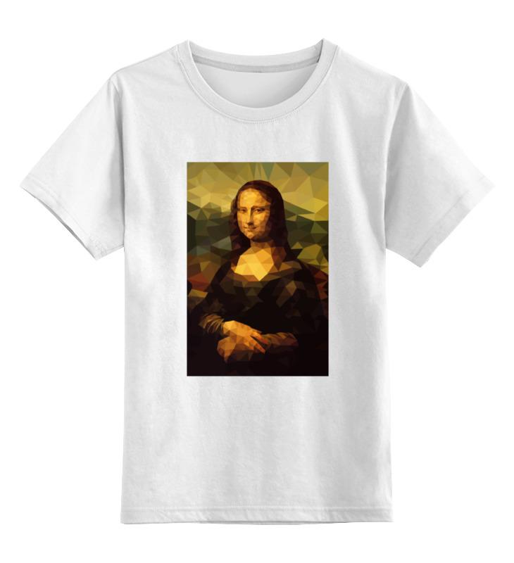 Купить 0000000727453, Детская футболка Printio Мона лиза mona lisa цв.белый р.164,