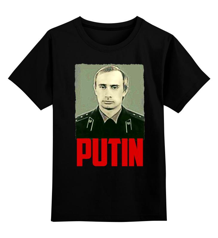 Детская футболка Printio Putin цв.черный р.104 0000000746528 по цене 990