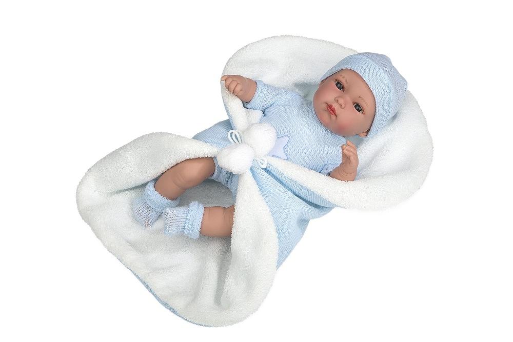 Купить Elegance, Erea, 33 см, мягкое тело, с соской, с голубым одеялом, плач при нажатии на животик, Пупс Arias Elegance Erea 33 см плач при нажатии на животик Т19774,
