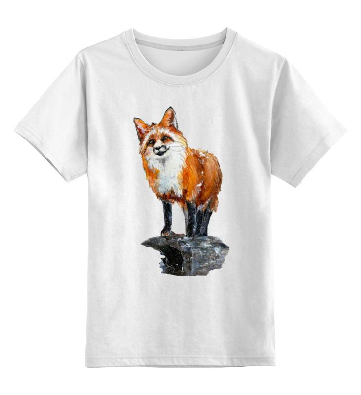 Детская футболка Printio Лисица цв.белый р.104 0000000739640 по цене 790