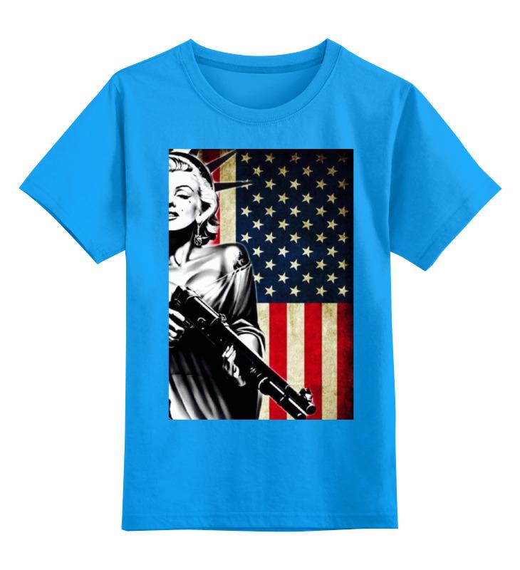 Купить 0000000739391, Детская футболка Printio Beck №1 цв.голубой р.104,