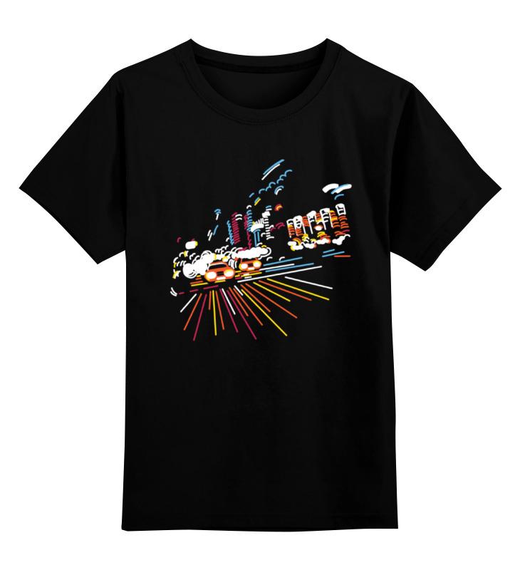 Детская футболка Printio Ночной город цв.черный р.104 0000000738333 по цене 990